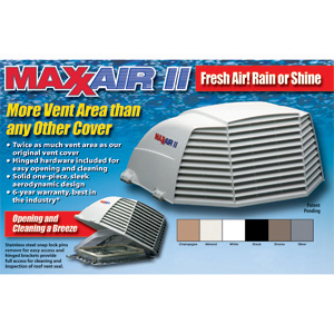00 955001 Maxxair Vent Fanmate Model 955 Vent Cover White