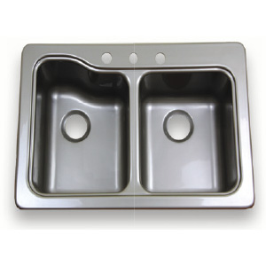 Better bath 209586 double bowl galley sink for The galley sink price