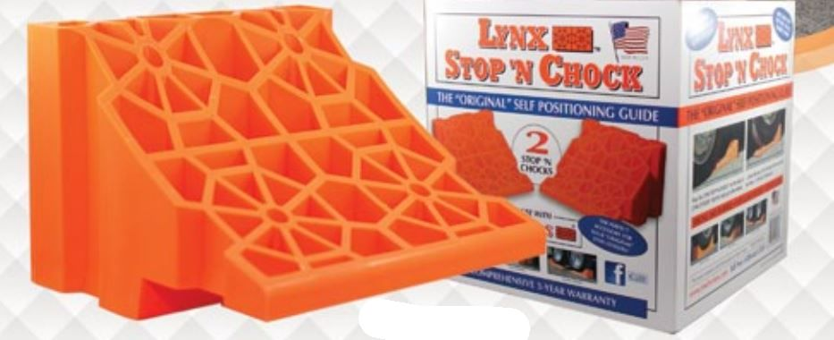 00018-2PK Tri-Lynx Wheel Chock Orange