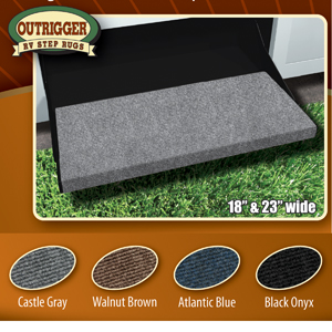 Prest-O-Fit 2-0314 Outrigger RV Step Rug Black Onyx 18 In. Wide
