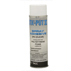 Adhesive Sta-Put II Polystyrene Foam Spray  13 oz. 001-SP213ACC