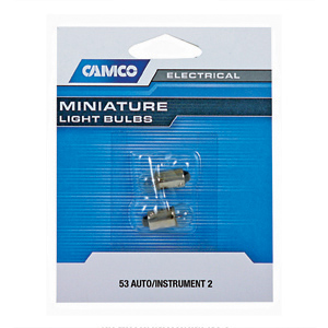Camco Bulb Automotive #53 1000 hr 2/pk 54711
