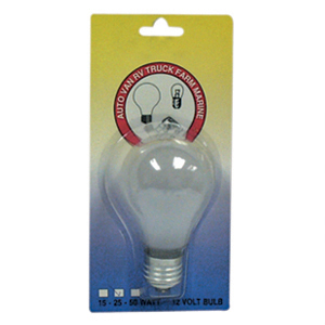 Speedway Light Bulb 50W x 12V Carded RV 50 CARDED
