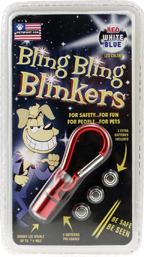 AP Products Bling Bling Blinkers Blue/White ea 006-85-BW