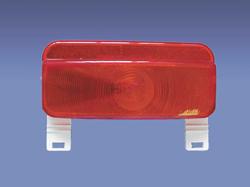 003-81L Fasteners Unlimited Tail Light Assembly Red Lens