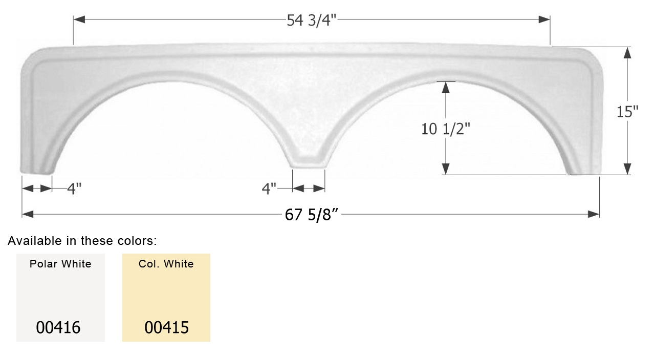00416 Icon Fender Skirt Universal Replacement To Fit By Dimension