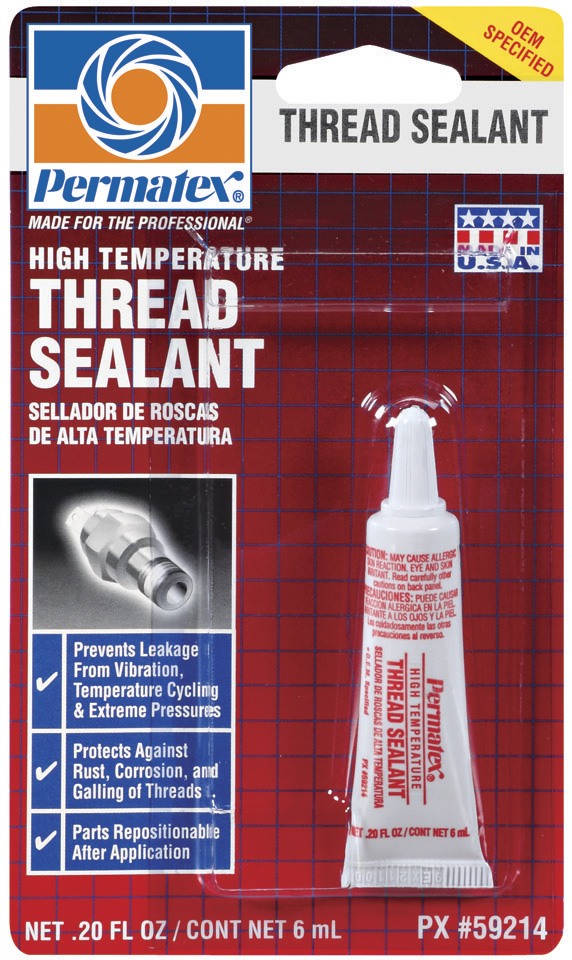 59214 Permatex Thread Sealant Use With Head Bolts Into Through Holes/