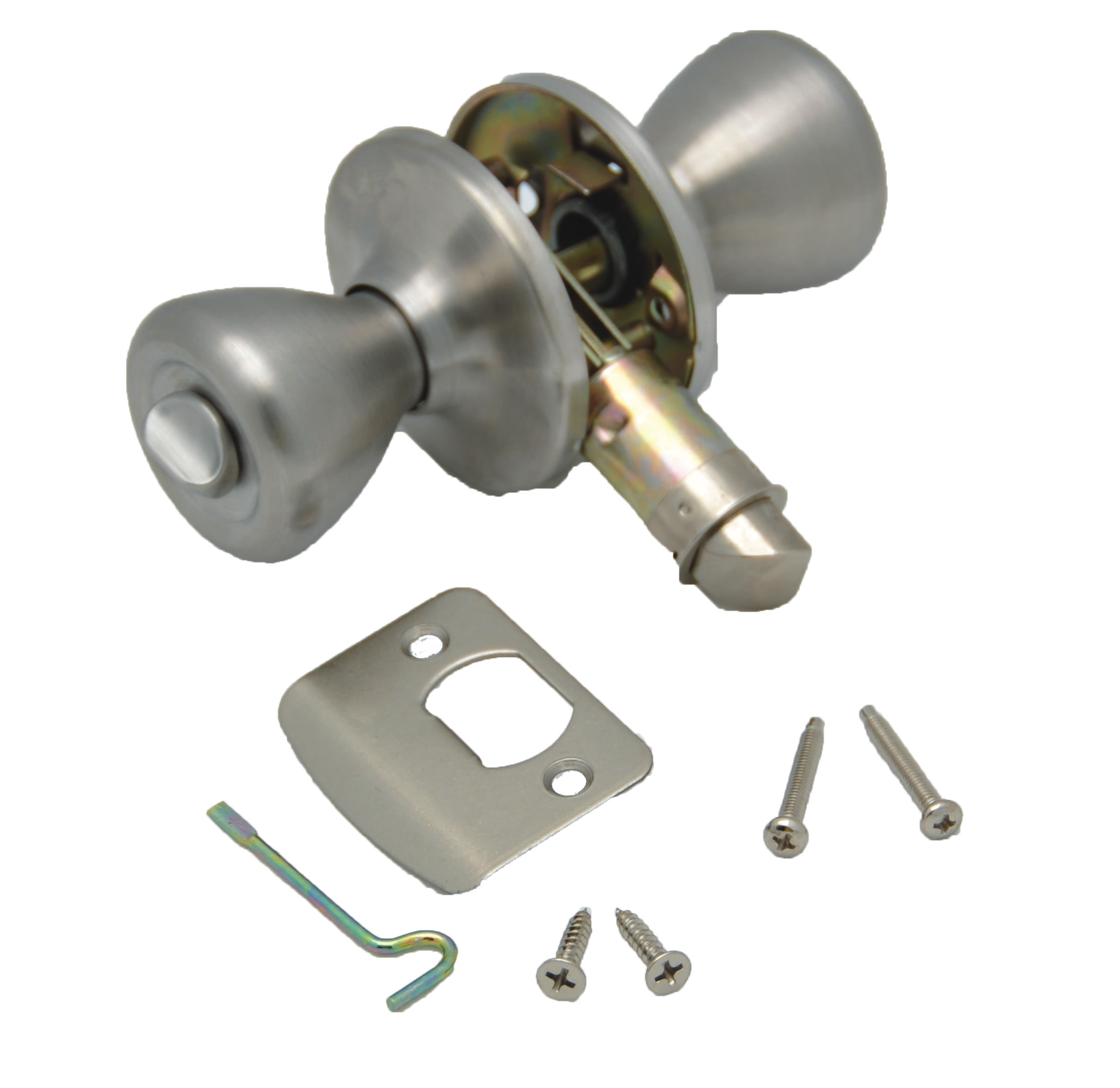 013-202-SS AP Products Entry Door Lock Knob Type