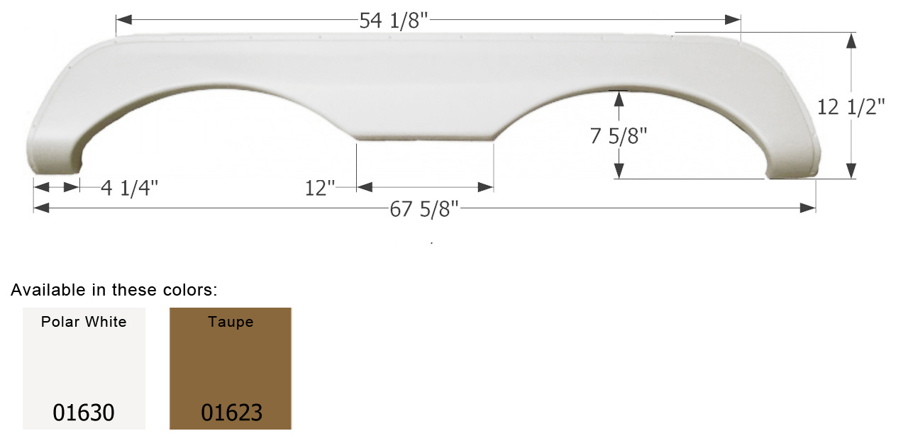 01630 Icon Fender Skirt Fits Various Mckenzie And Holiday Rambler