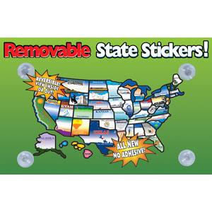REMOVABLESTATESTICKERS State Sticker INTERIOR ACCESSORIES RV State