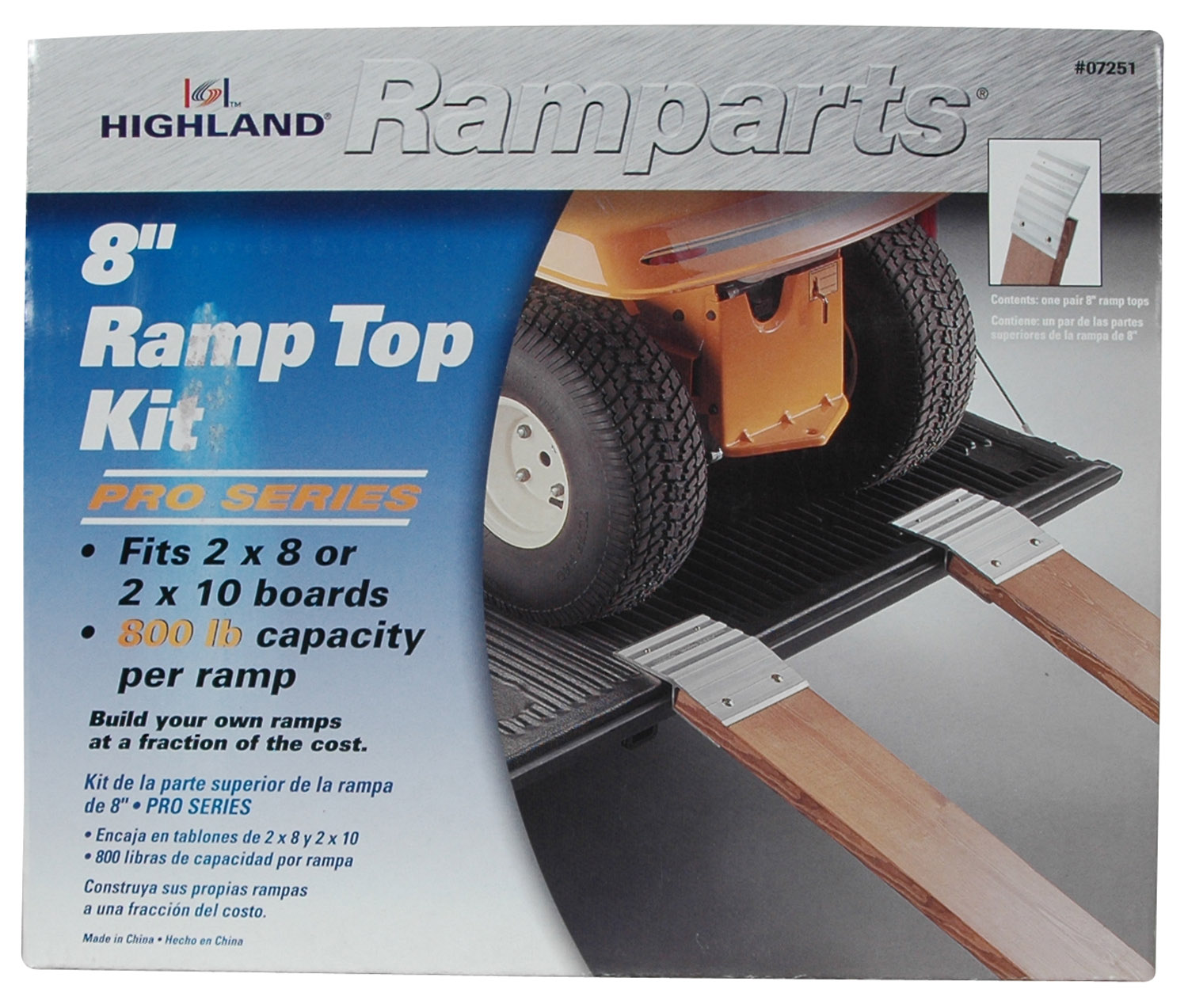 0725100 Highland Bed Ramp Brackets For 2 Inch x 8 Inch Boards