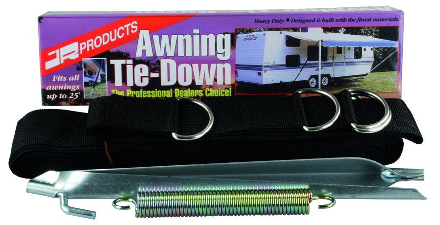 09253 JR Products Awning Tie Down Used To Protect Awning From Wind