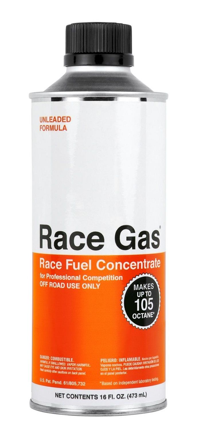 100016 Race Gas Fuel Additive For 87-93 Octane Gas