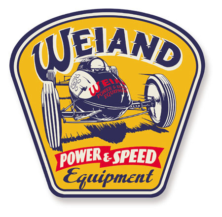 10004WND Weiand Sign Retro Power And Speed Design