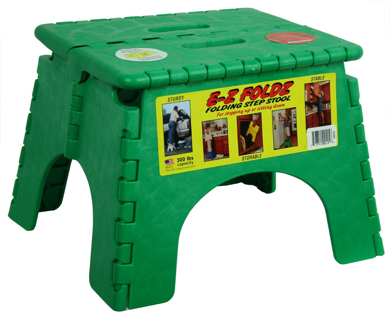 101-6G B&R Plastics Step Stool Single Step With Skid Resistant Surface