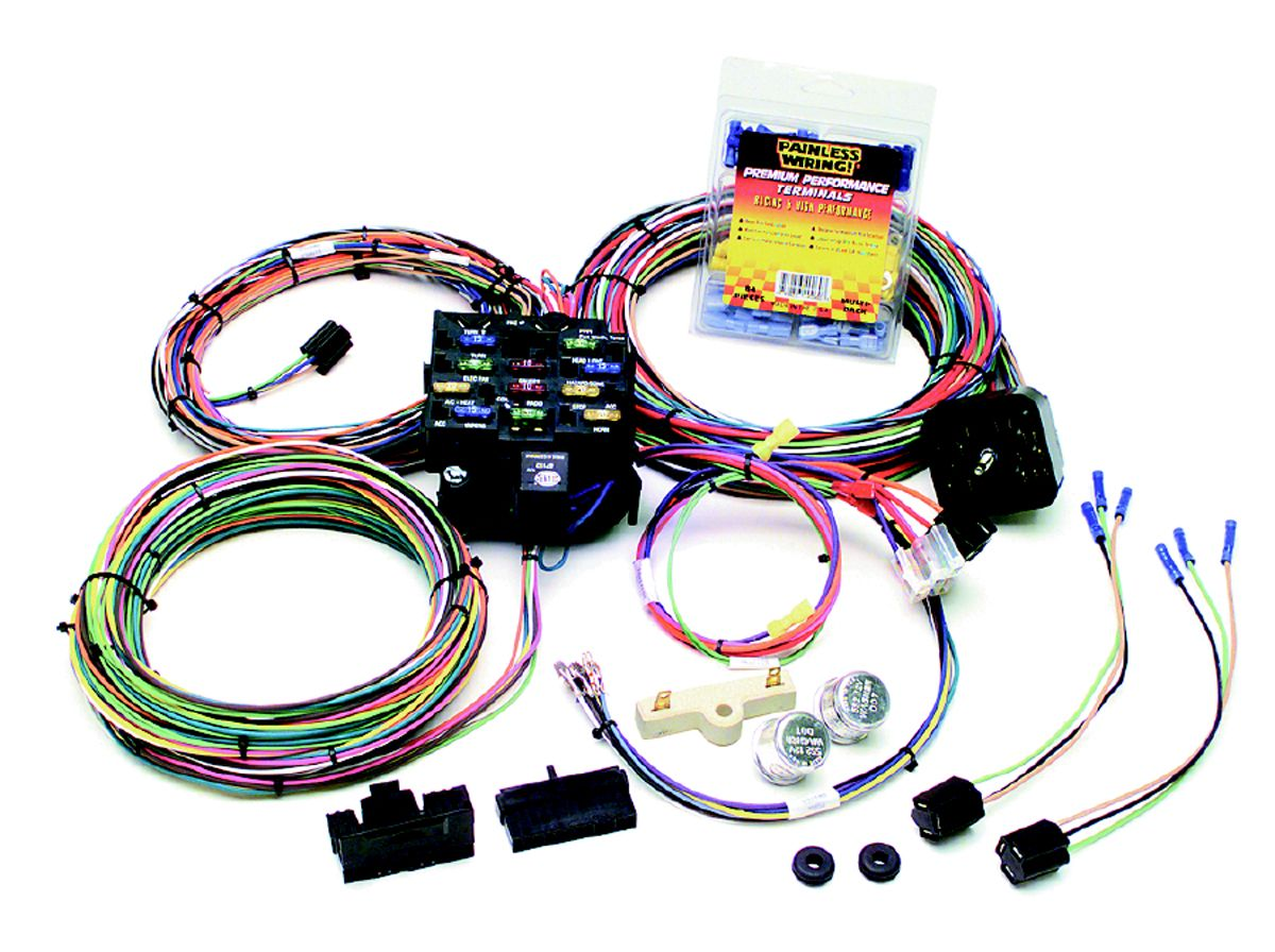 Painless Wiring 21 Circuit Harness Trusted Schematics Diagram Ez 10106 Chassis Chevy