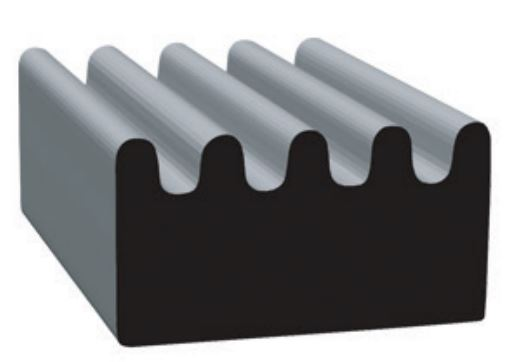 103H2-50 Clean Seal Door Window Channel Seal Ribbed Type