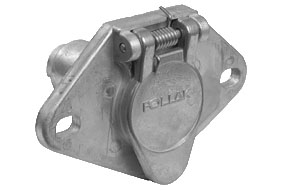 11-404 Pollak Trailer Wiring Connector 4 Way Round Socket