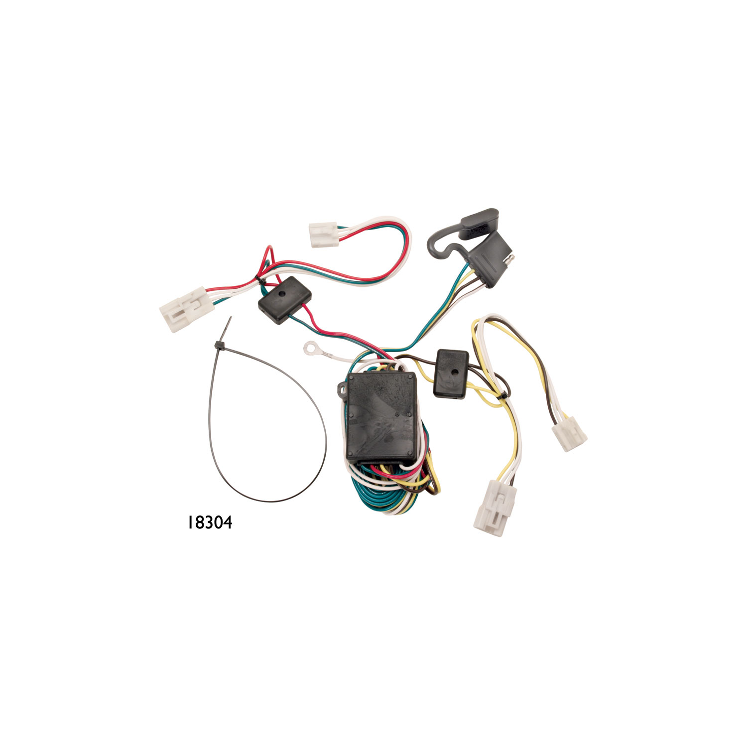 118392 Tekonsha Trailer Wiring Connector 4 Way Flat Replacement For 118304