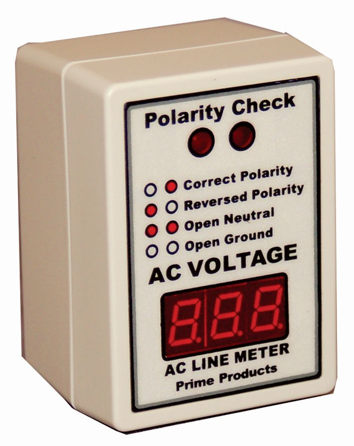 12-4058 Prime Products Line Voltage Monitor Shows If Low Voltage