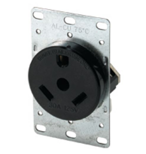 1263-BOX Cooper Wire Receptacle 2 Pole/ 3 Wire