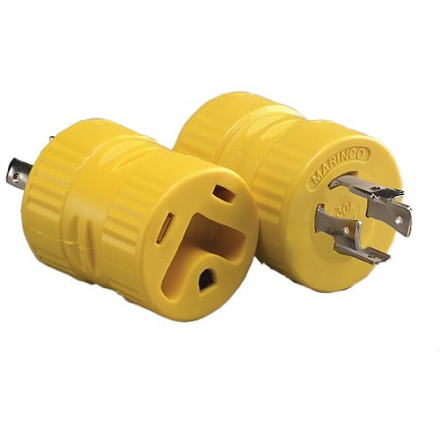 128A Marinco Power Cord Adapter For Connecting RV Power Inlet To