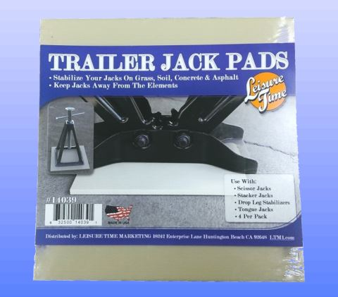 14039 Leisure Time Trailer Stabilizer Jack Stand Pad Use To Stabilize