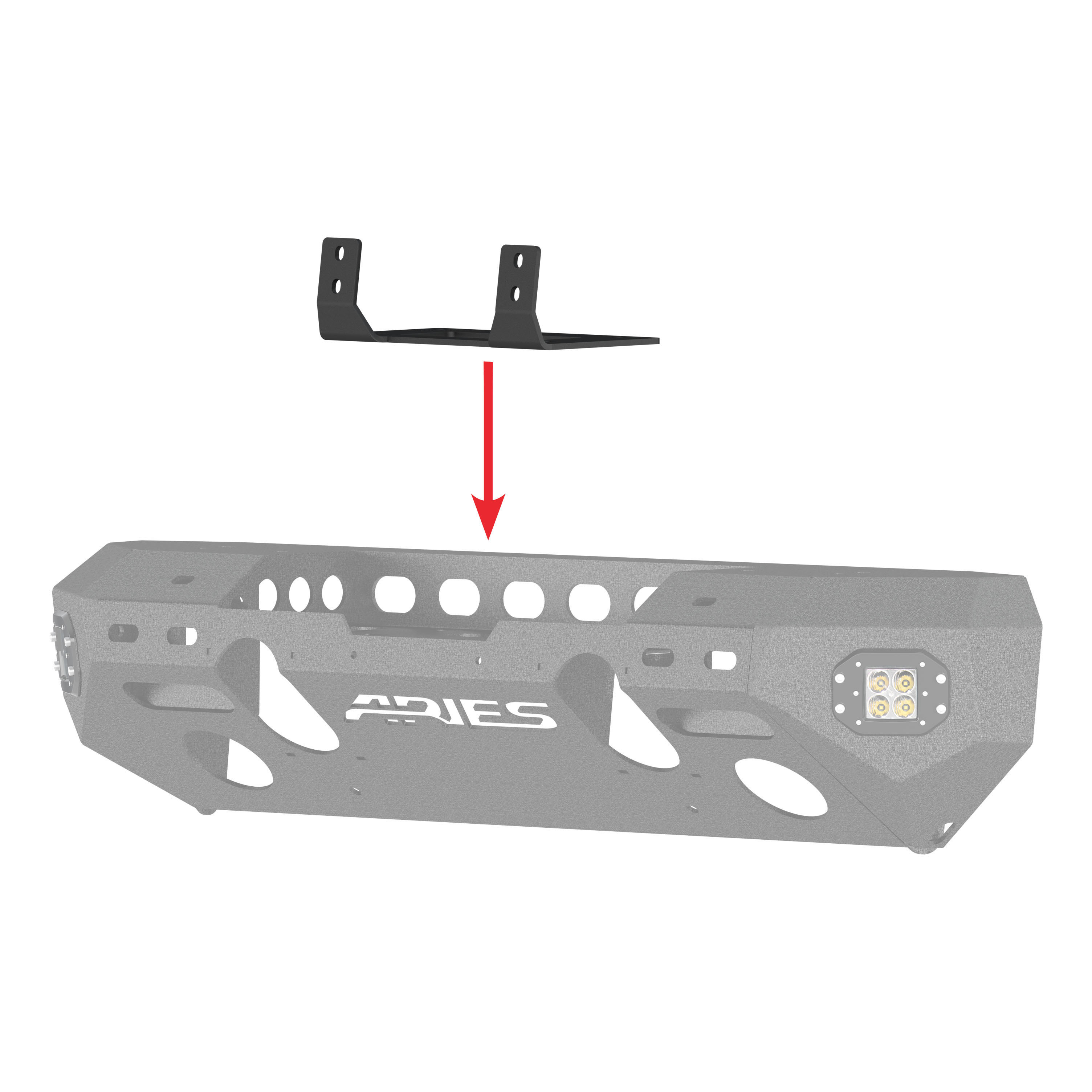 15600FB Aries Winch Mount Universal 10 Inch Center To Center Hole