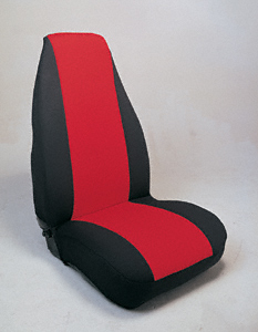 1962106 Saddleman    Seat Covers Neoprene Hb Buck Red/Blk