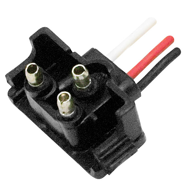 1M-V-399 Diamond Group Trailer Light Connector Pigtail 3 Wire Plug