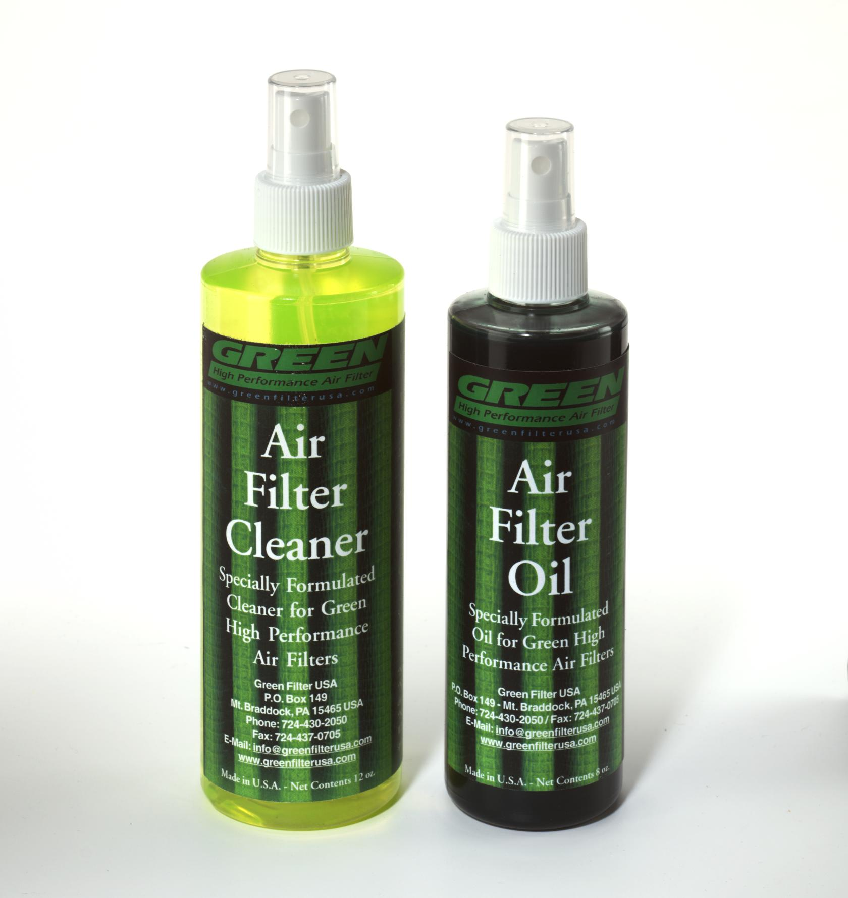 2000 Green Filter Air Filter Cleaner Kit 12 Ounce Cleaner