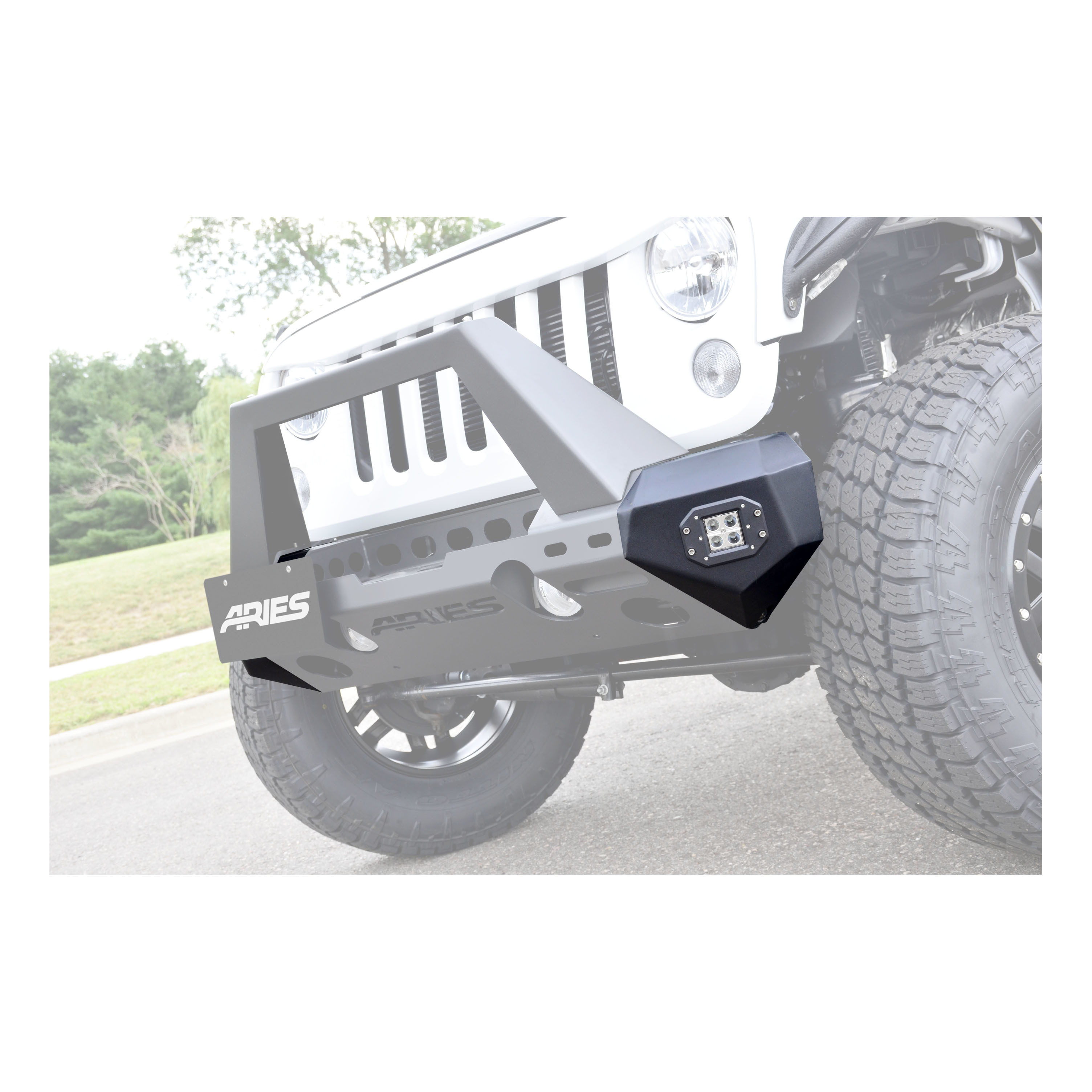 2081200 Aries Bumper End Textured Powder Coated