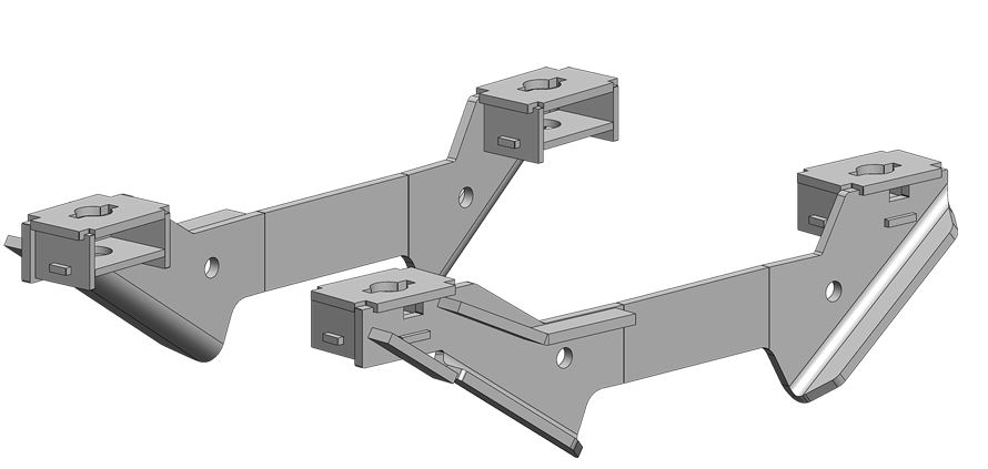 2328 PullRite Fifth Wheel Trailer Hitch Mount Kit Use With 24K ISR