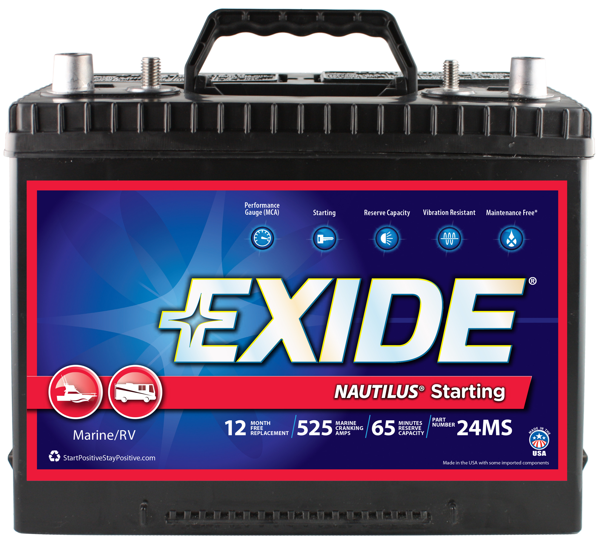 24MS Exide Technologies Battery OE Replacement