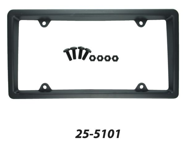 25-510EB Superior Automotive License Plate Frame Black