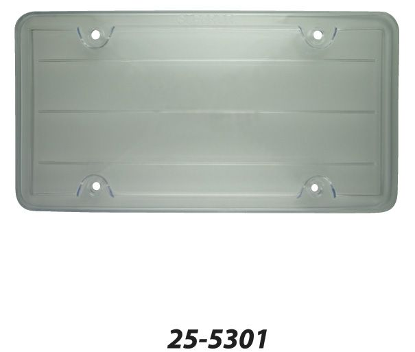 25-5301 Superior Automotive License Plate Cover Clear