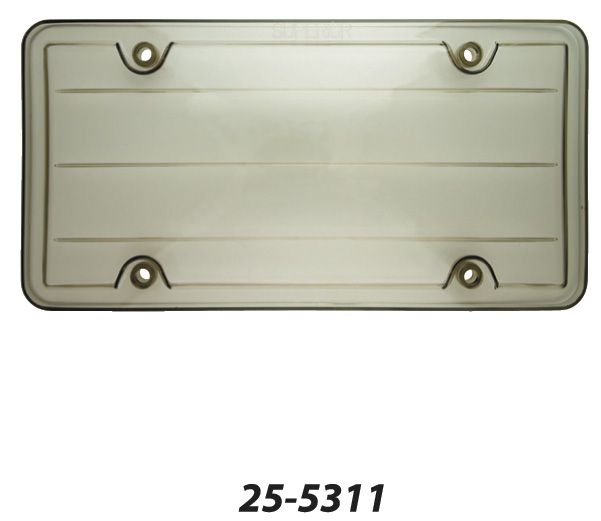 25-5311 Superior Automotive License Plate Cover Smoke