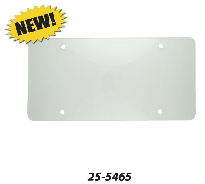 25-5465 Superior Automotive License Plate Cover Clear