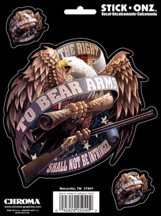 25040 Chroma Graphics Decal The Right To Bear Arms Eagle