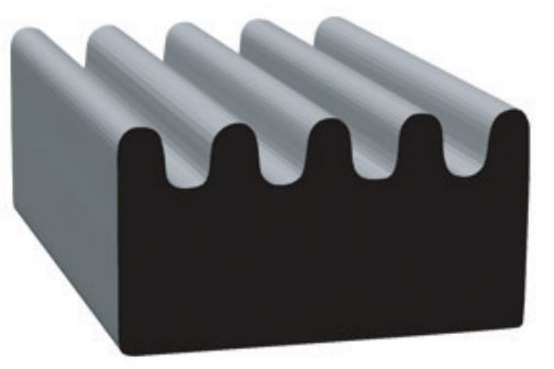 2897H2-50 Clean Seal Door Window Channel Seal Ribbed Type
