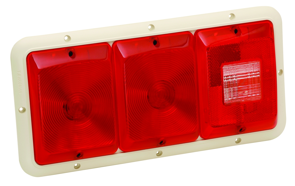 30-84-002 Bargman Trailer Light Triple Tail Light