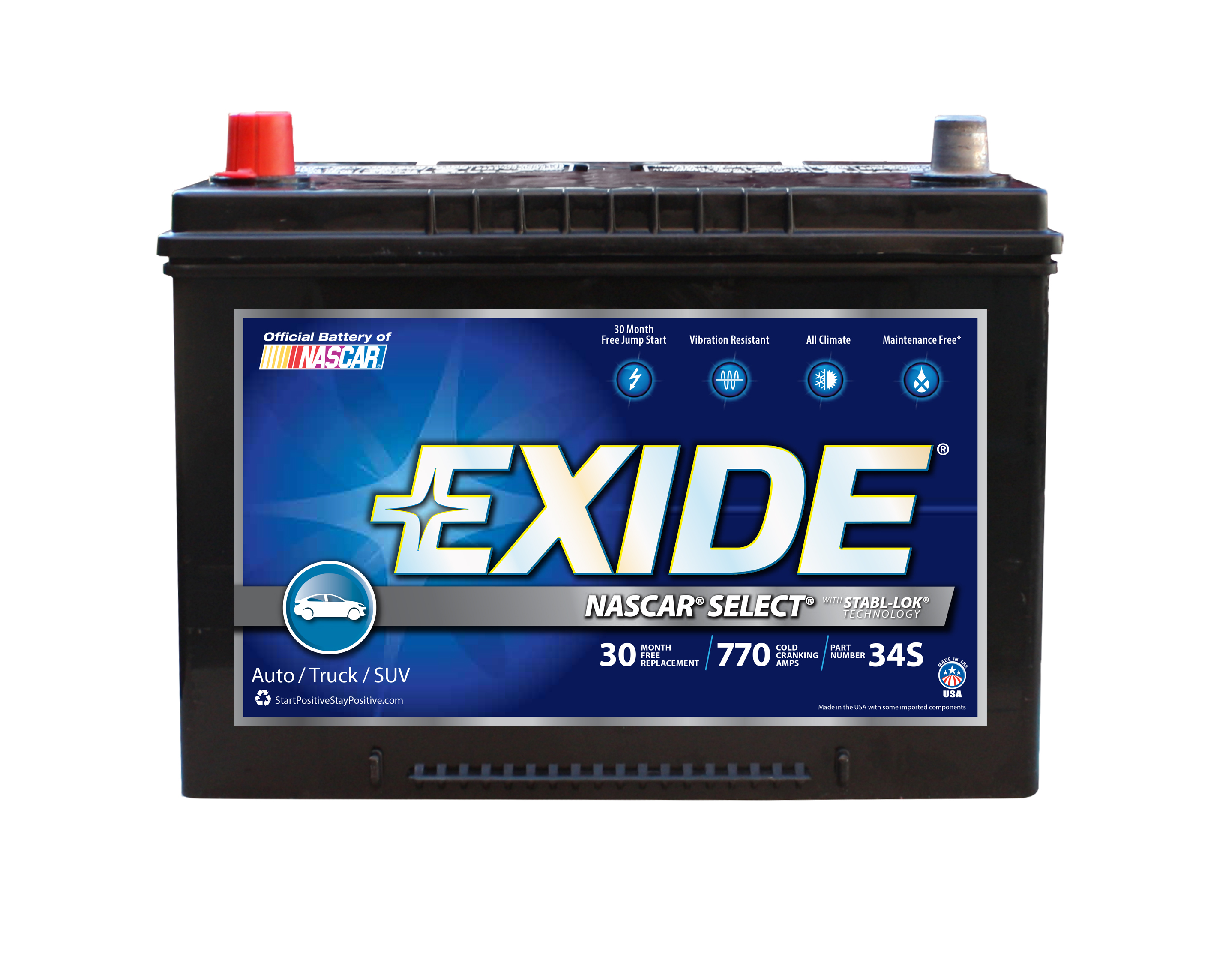 34S Exide Technologies Battery OE Replacement