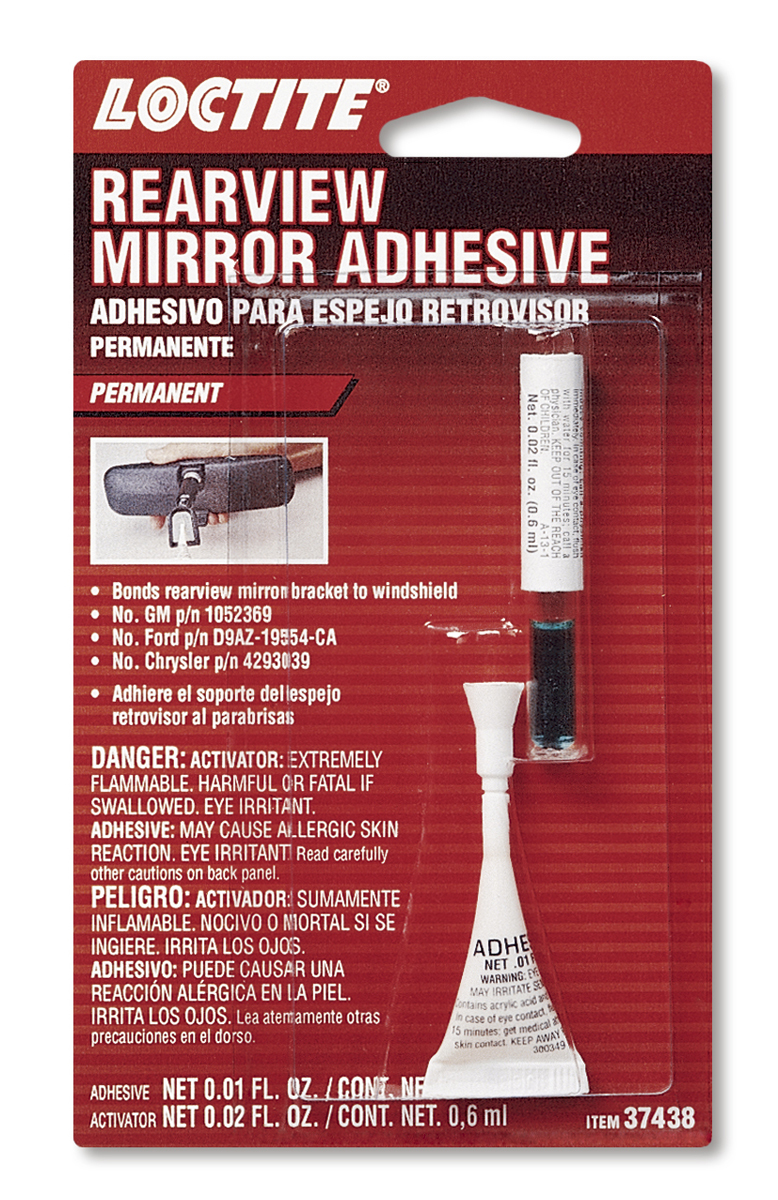 37438 Loctite Adhesive Use To Mount Rearview Mirrors To Windshields