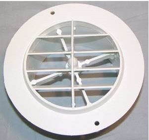 3840WH D&W Inc. Heating/ Cooling Register Round