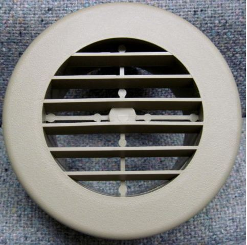 3940BK D&W Inc. Heating/ Cooling Register Round