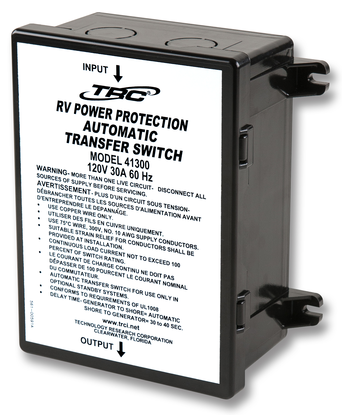 41300 Technology Research Corp Power Transfer Switch Transfer Power