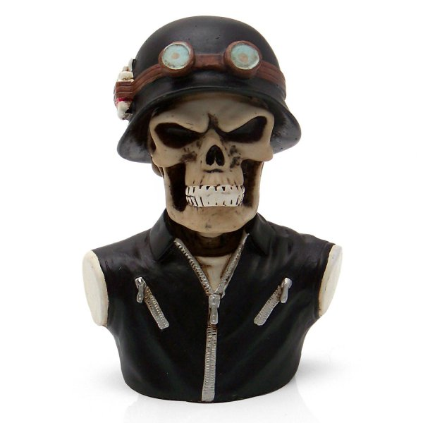 43 American Shifter Air Cleaner Ornament Chopper Biker Skull