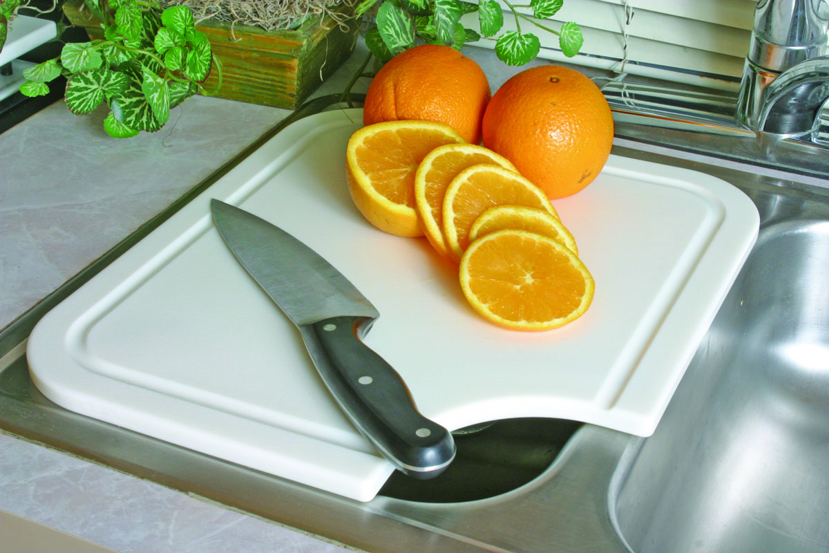 43857 Camco Cutting Board With Adjustable Feet To Fit Multiple Sink