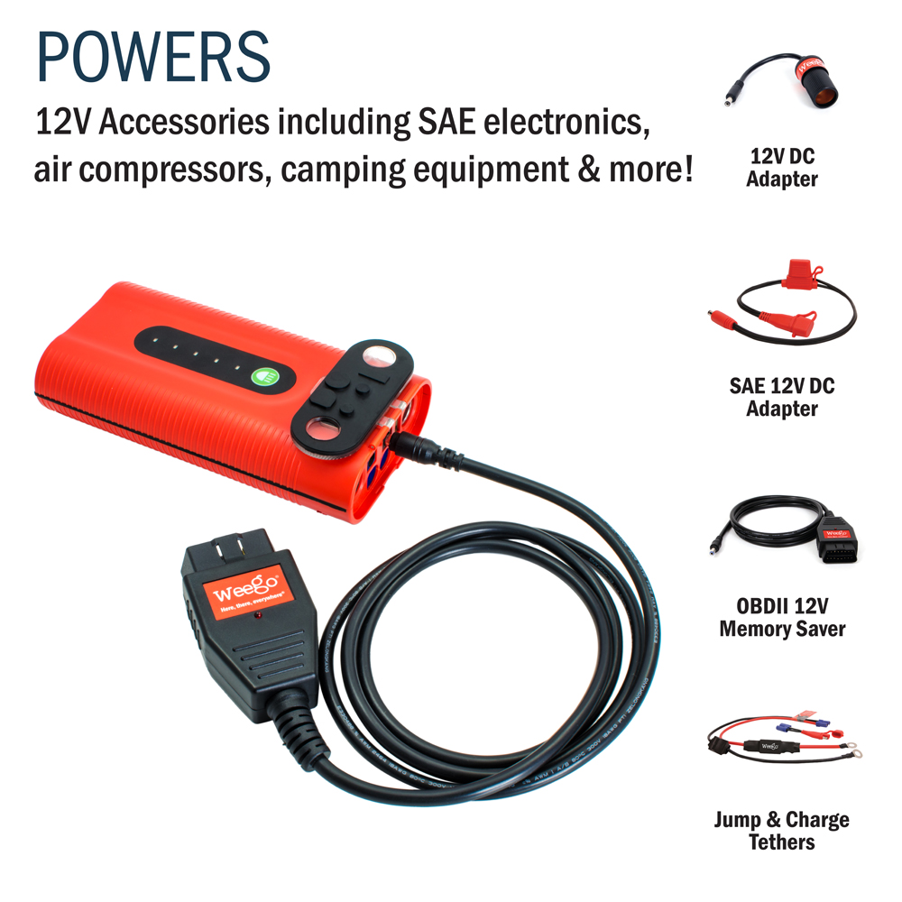 N44 Weego Battery Portable Jump Starter Use On Any Gas Engine Up To 7