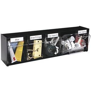 20504Hw Deflect-O Display-Accessories 5 Bin Horiz Hardware Tilt